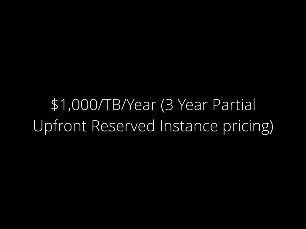 $1,000/TB/Year (3 Year Partial Upfront Reserved...