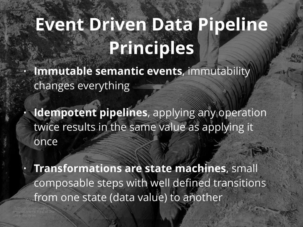 Event Driven Data Pipeline Principles • Immutab...