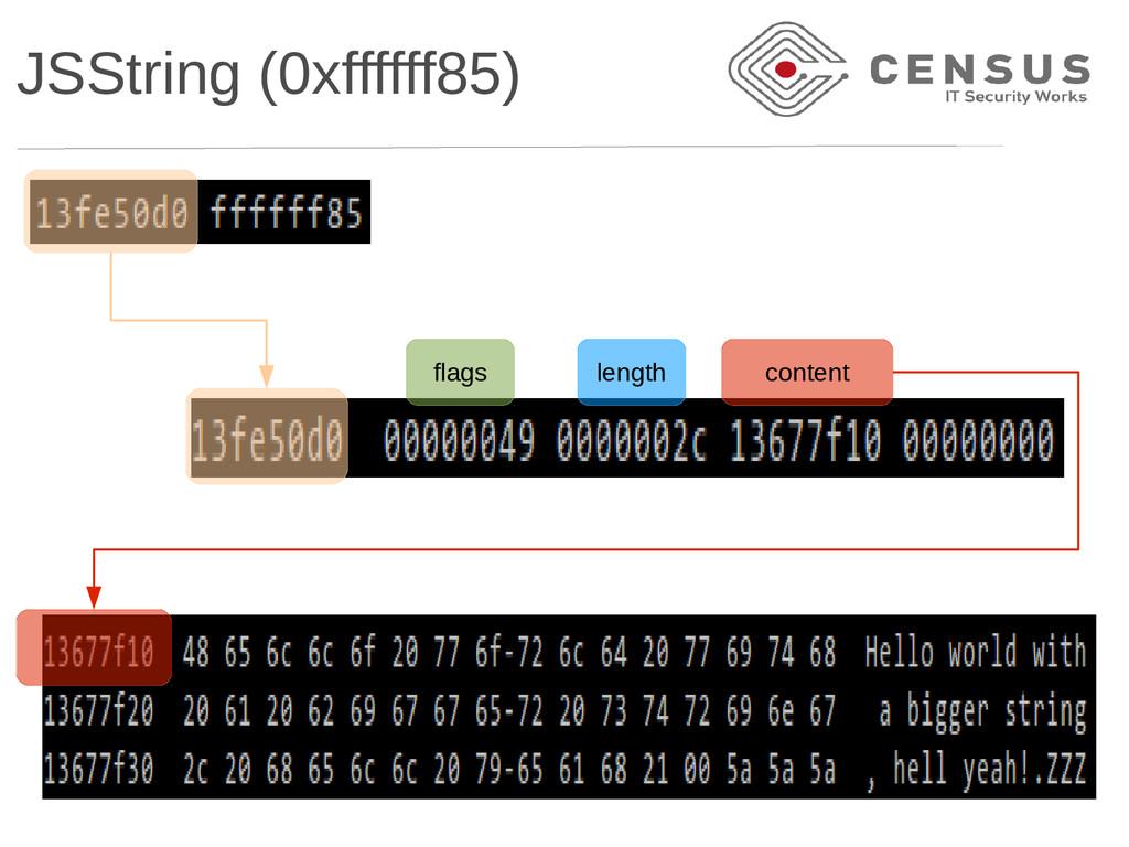 JSString (0xffffff85) flags length content