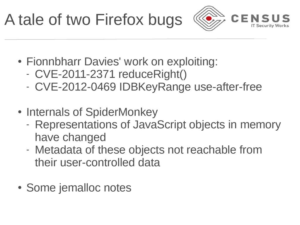 A tale of two Firefox bugs ● Fionnbharr Davies'...
