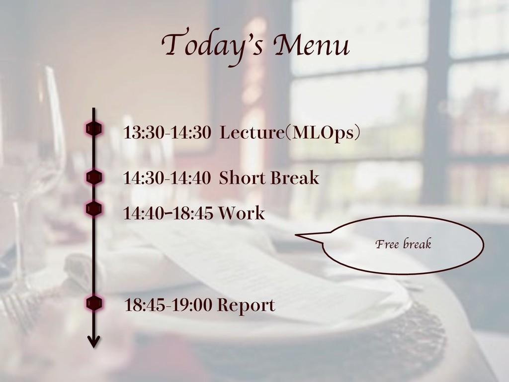 Today's Menu  -FDUVSF .-0QT  ...