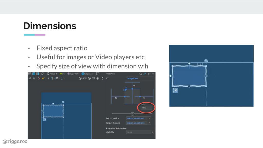 @riggaroo Dimensions - Fixed aspect ratio - Use...