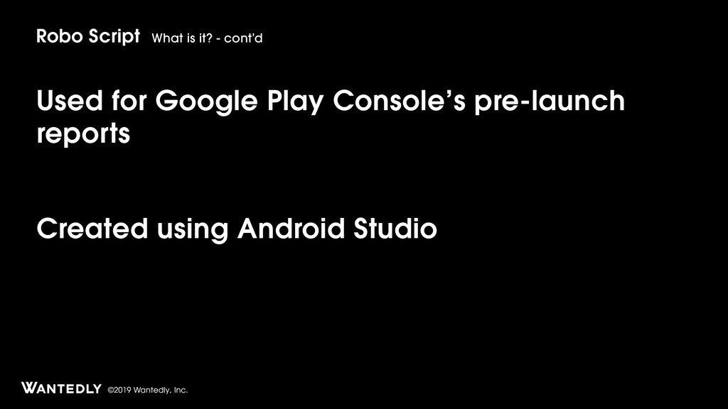 ©2019 Wantedly, Inc. Used for Google Play Conso...