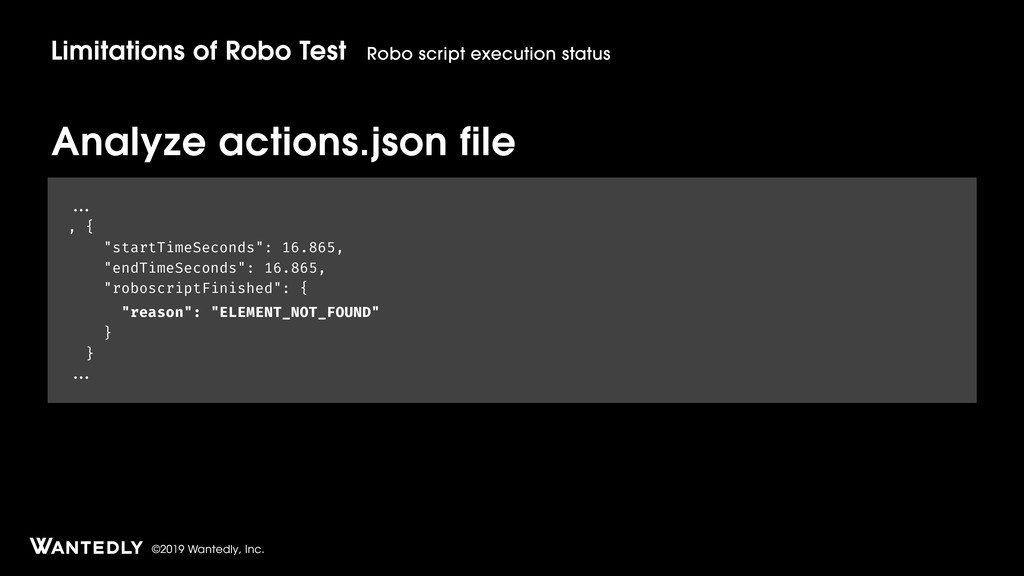 ©2019 Wantedly, Inc. Analyze actions.json file ...