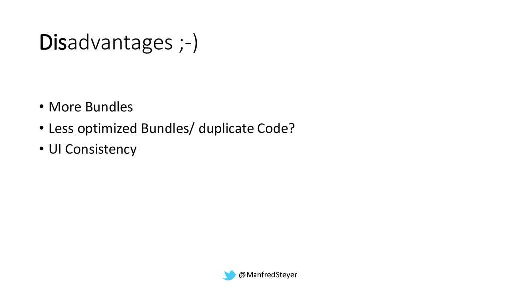 @ManfredSteyer Disadvantages ;-) • More Bundles...