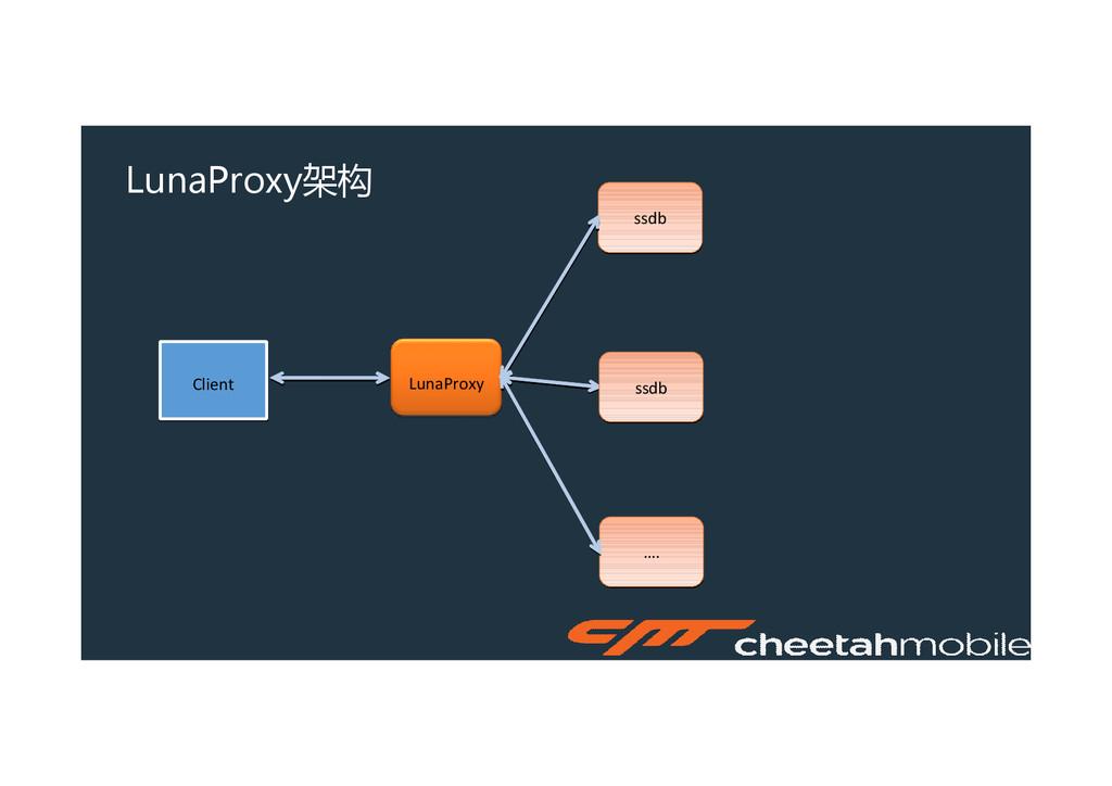 LunaProxy架构 LunaProxy Client Client ssdb ssdb …...