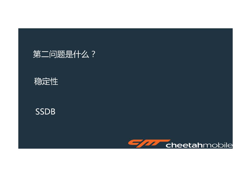 第二问题是什么? 稳定性 SSDB