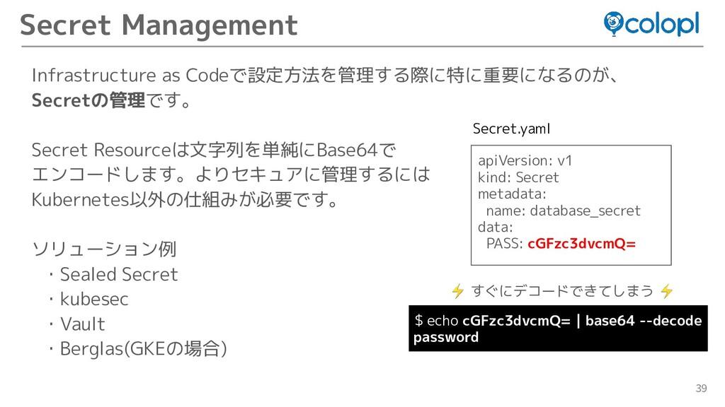 39 Secret Management Infrastructure as Codeで設定方...