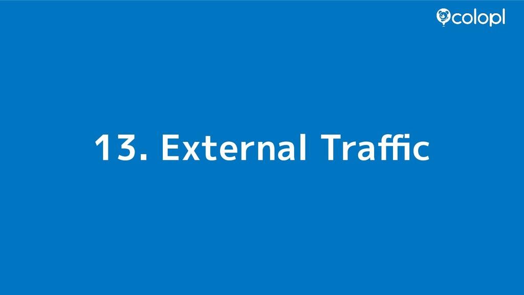 13. External Traffic