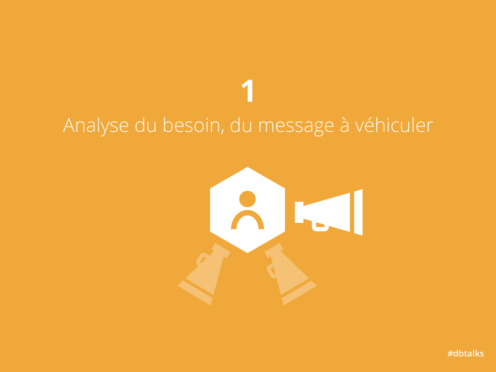 #dbtalks 1 Analyse du besoin, du message à véh...