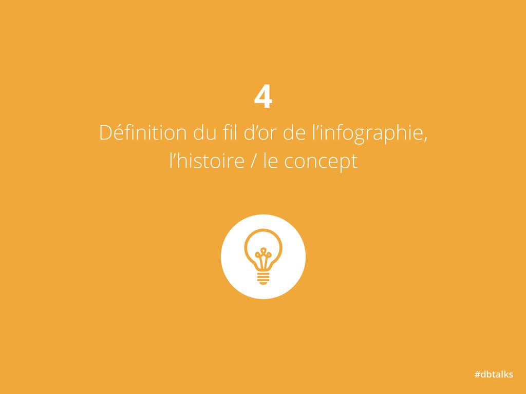 #dbtalks 4 Définition du fil d'or de l'infograph...