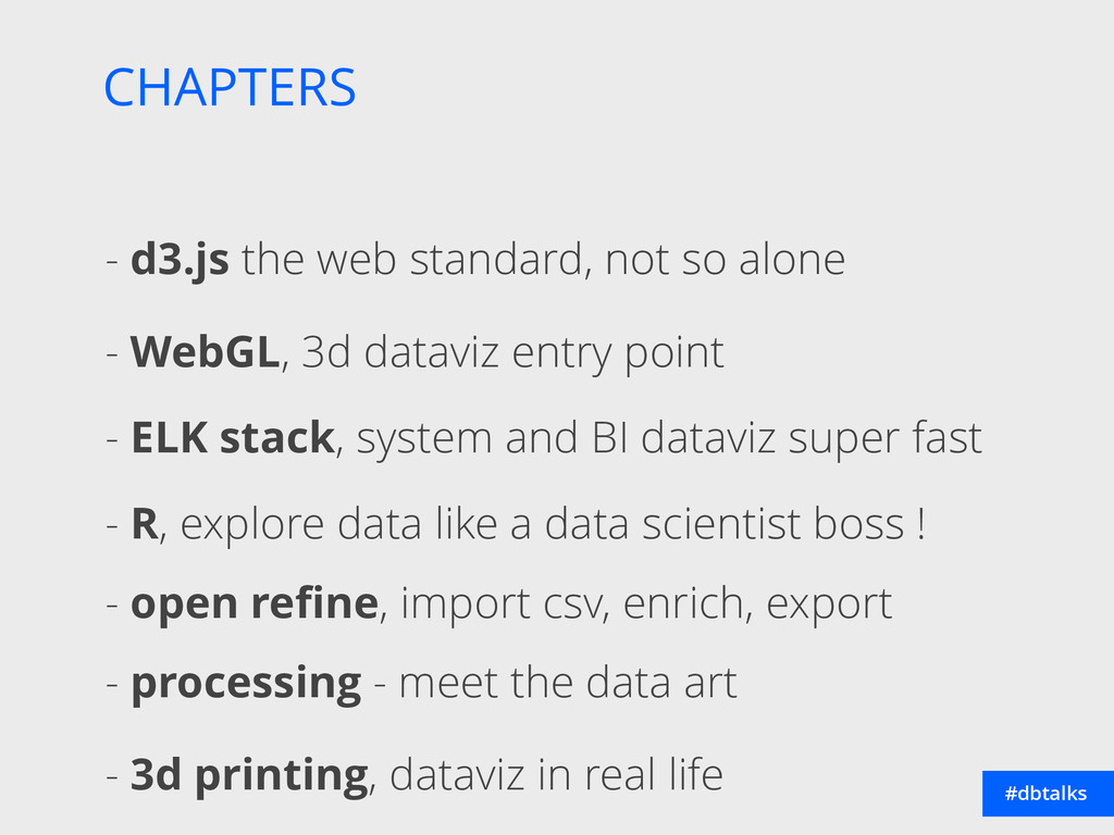 CHAPTERS #dbtalks - d3.js the web standard, not...