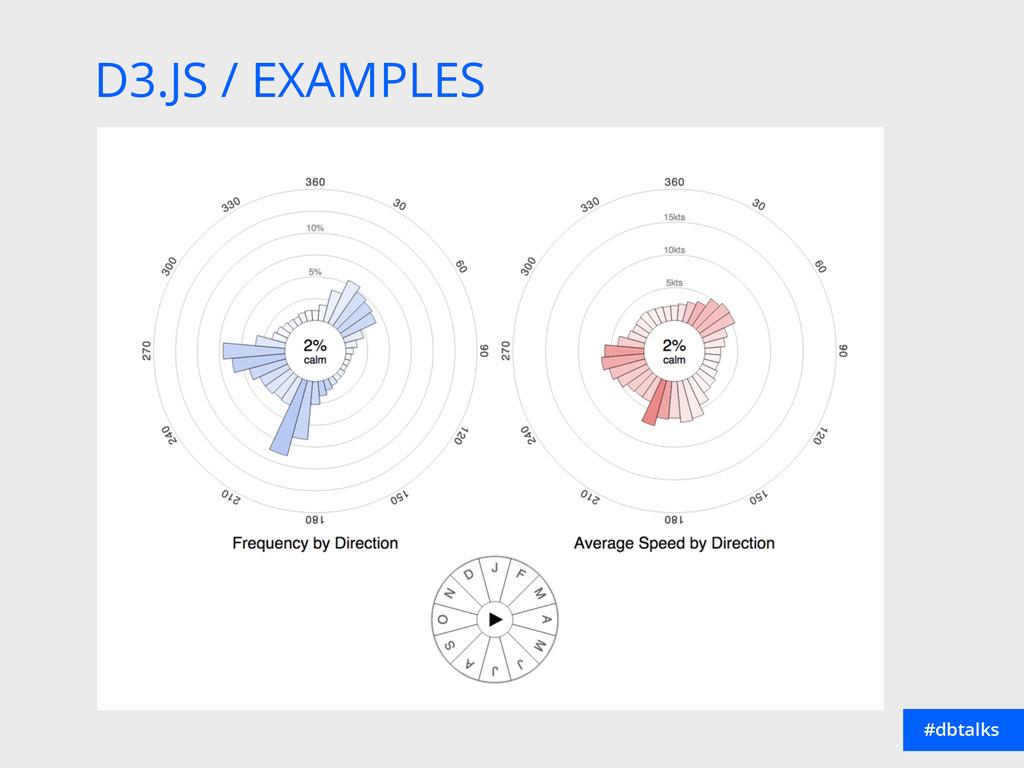D3.JS / EXAMPLES #dbtalks