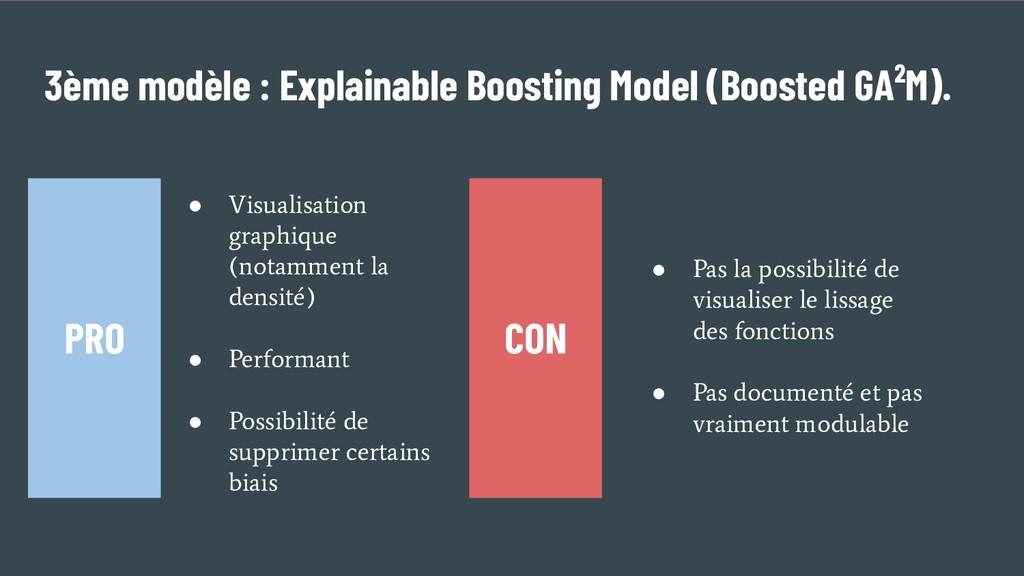 3ème modèle : Explainable Boosting Model (Boost...