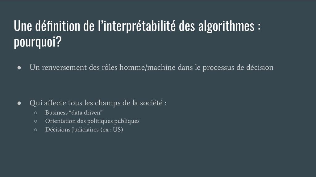 Une définition de l'interprétabilité des algorit...