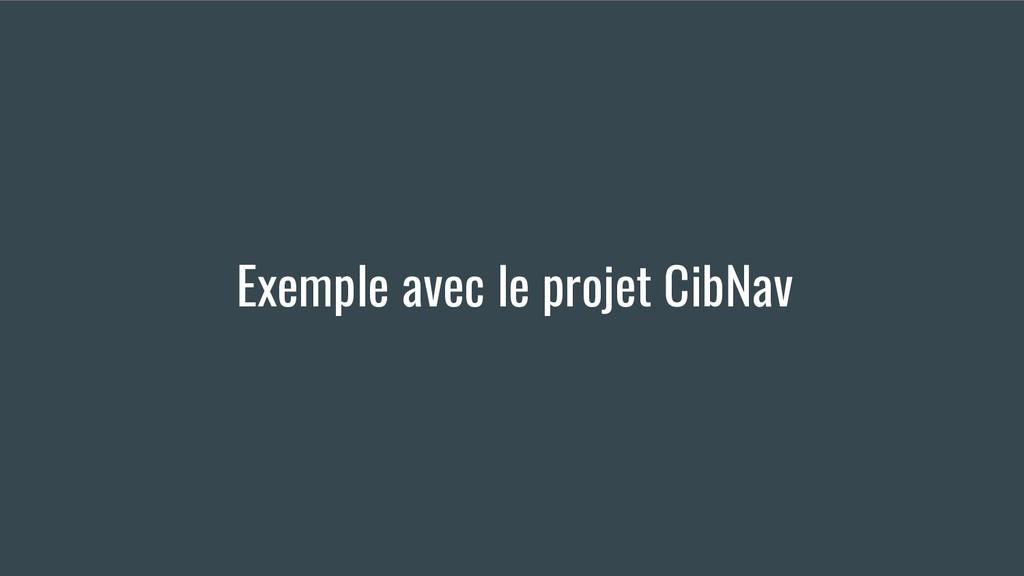 Exemple avec le projet CibNav