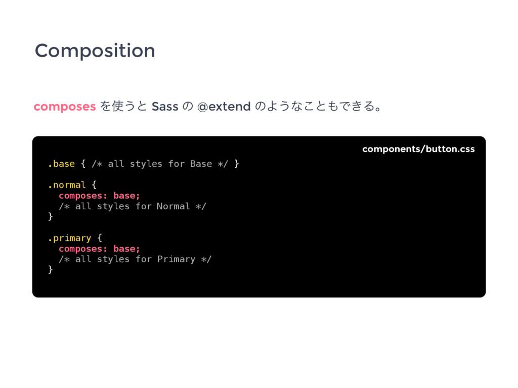 Composition composes Λ͏ͱ Sass ͷ @extend ͷΑ͏ͳ͜ͱ...