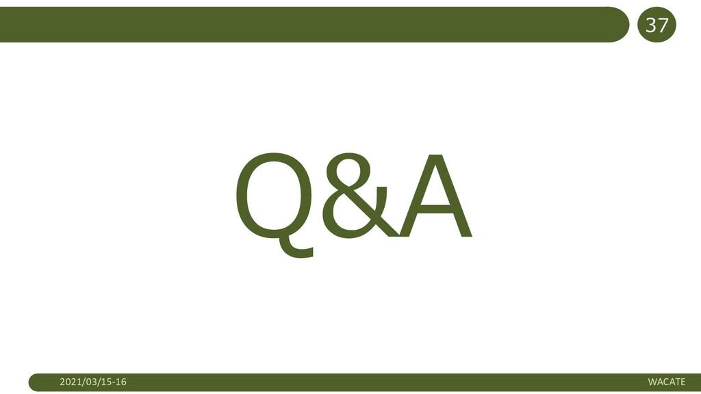 Q&A 2021/03/15-16 WACATE 37