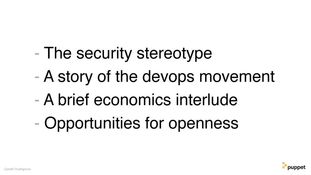 - The security stereotype - A story of the devo...