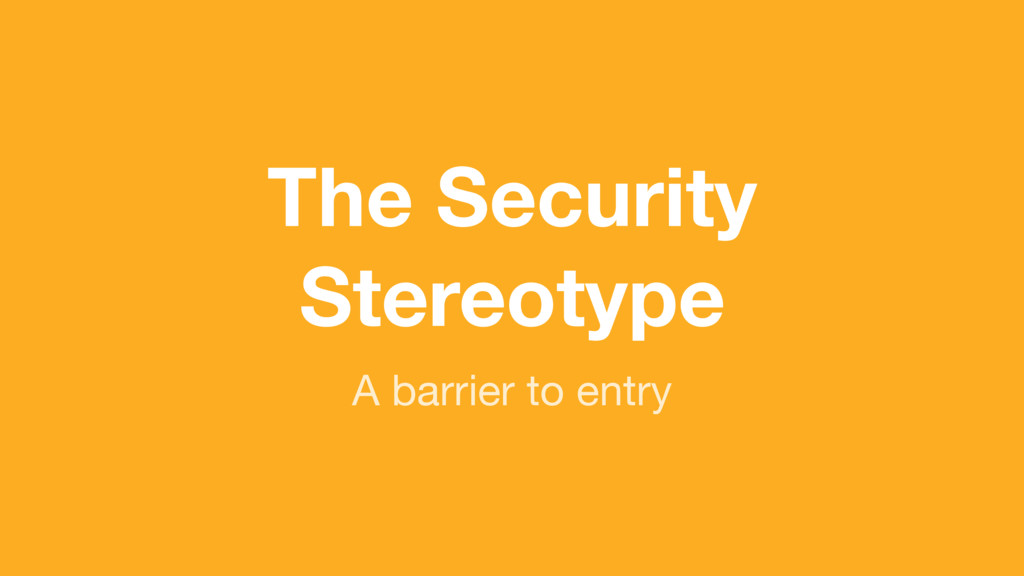 (without introducing more risk) The Security St...