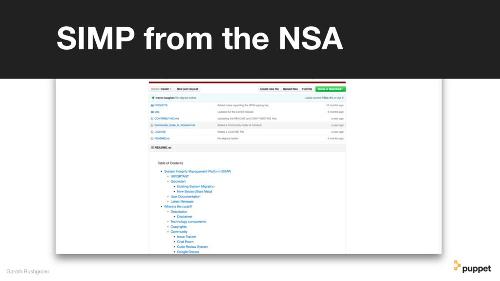 Gareth Rushgrove SIMP from the NSA