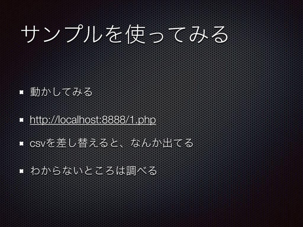 αϯϓϧΛͬͯΈΔ ಈ͔ͯ͠ΈΔ http://localhost:8888/1.php c...