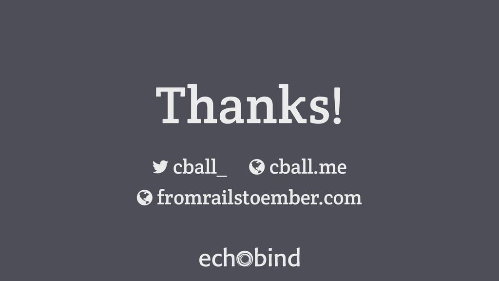 """Thanks! cball_ ! cball.me """" fromrailstoember.co..."""