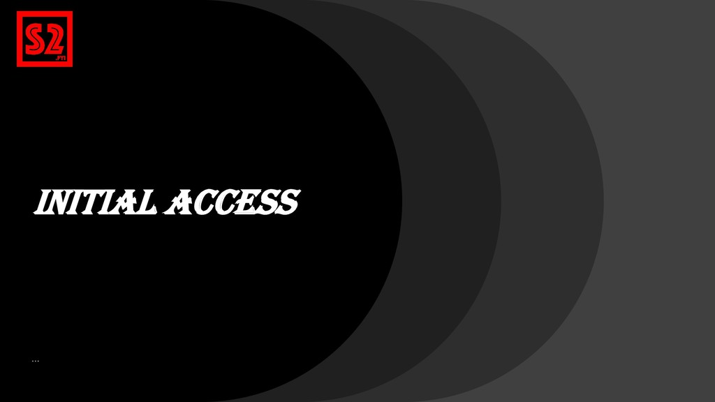 Initial Access …