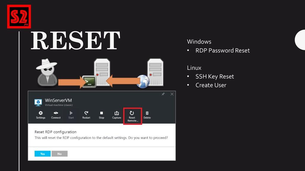 RESET … Windows • RDP Password Reset Linux • SS...