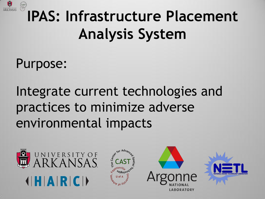 IPAS: Infrastructure Placement Analysis System ...