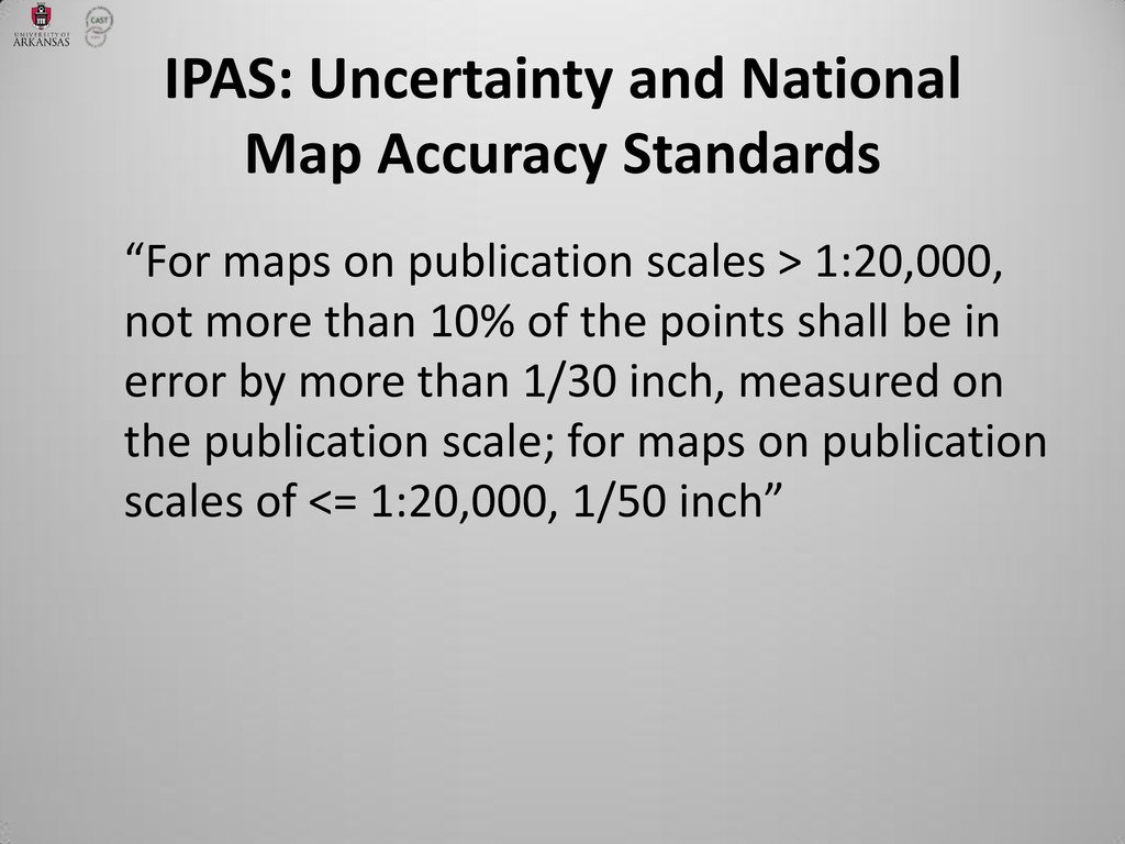 """For maps on publication scales > 1:20,000, not..."