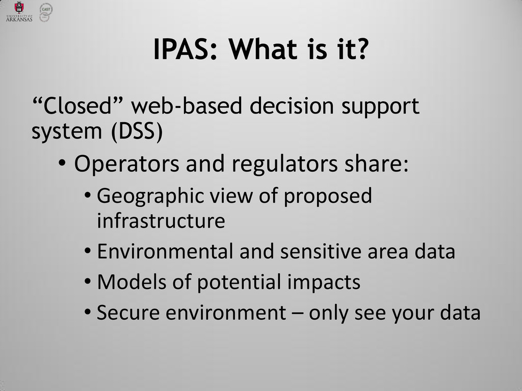 """Closed"" web-based decision support system (DSS..."