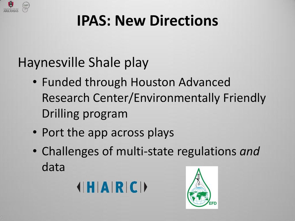 IPAS: New Directions Haynesville Shale play • F...