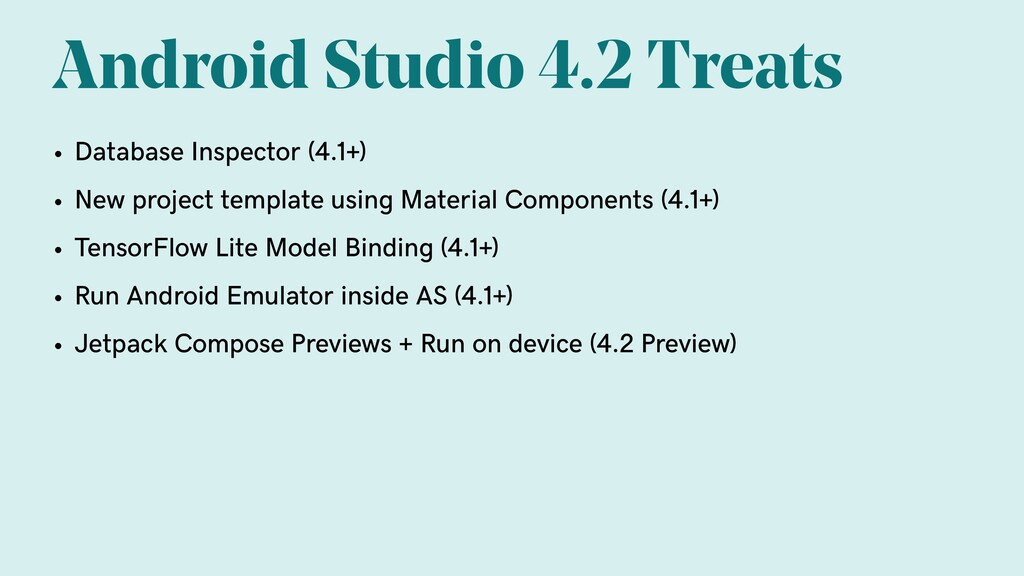 Android Studio 4.2 Treats • Database Inspector ...