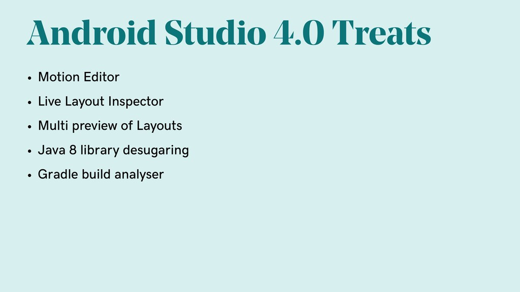 Android Studio 4.0 Treats • Motion Editor • Liv...