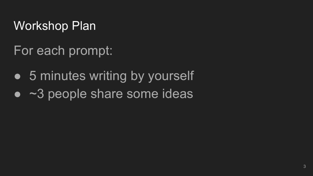 For each prompt: ● 5 minutes writing by yoursel...