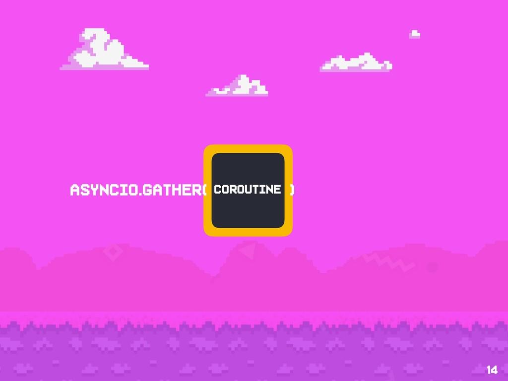 14 coroutine asyncio.gather( )