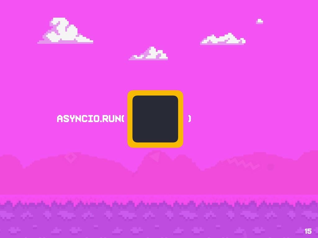 15 asyncio.run( )