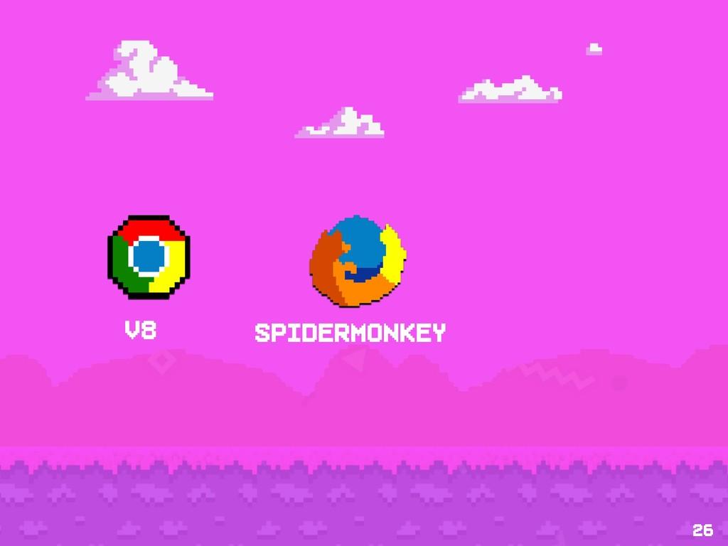 26 v8 Spidermonkey