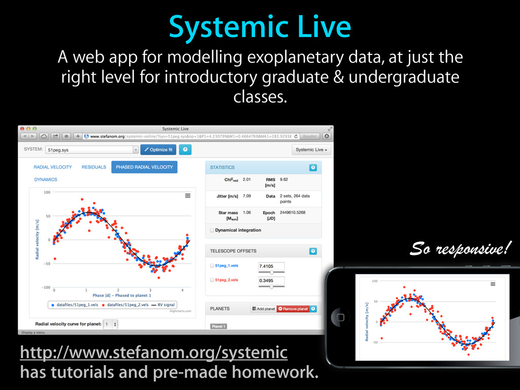 Systemic Live A web app for modelling exoplanet...