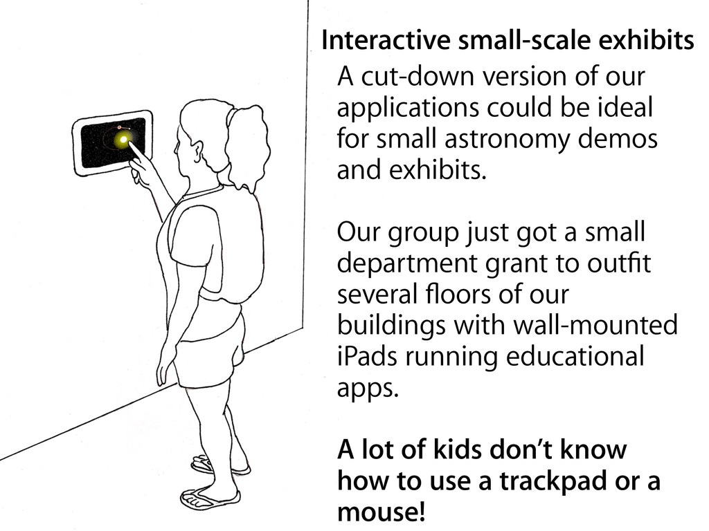 Interactive small-scale exhibits A cut-down ver...