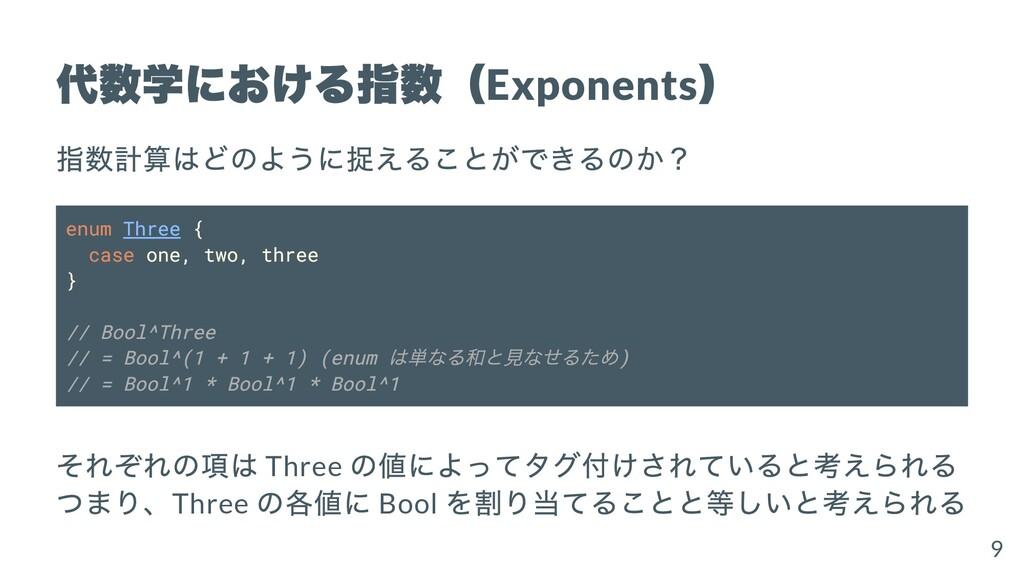 代数学における指数( Exponents ) 指数計算はどのように捉えることができるのか? e...