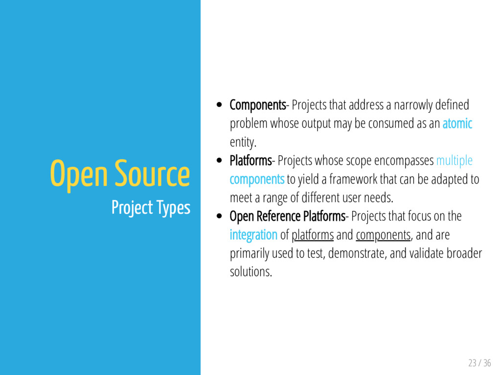 23 / 36 Open Source Project Types Components- P...