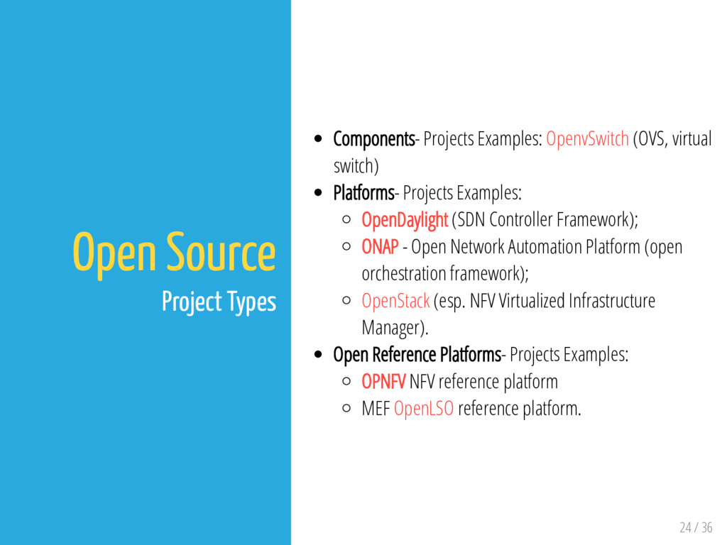 24 / 36 Open Source Project Types Components- P...