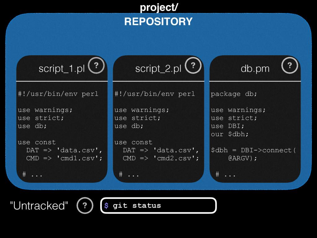 REPOSITORY project/ script_1.pl script_2.pl db....
