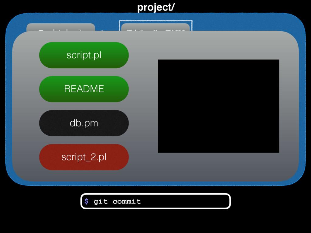 project/ Initial File2+ENV script.pl README db....