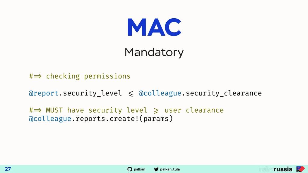 palkan_tula palkan MAC 27 Mandatory # => checki...
