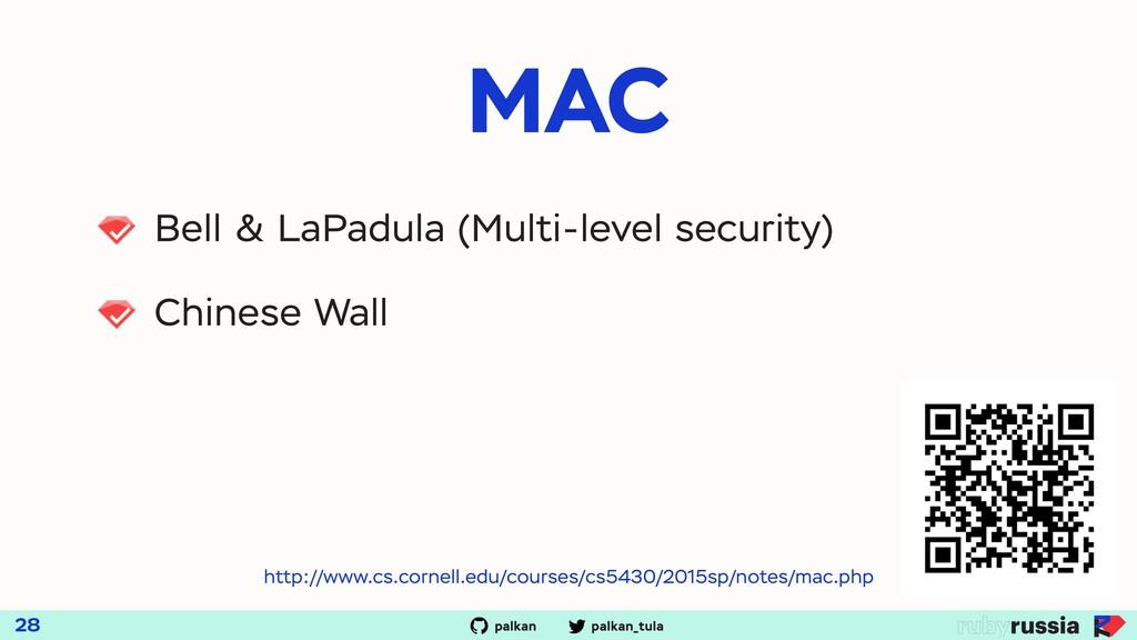 palkan_tula palkan MAC 28 Bell & LaPadula (Mult...