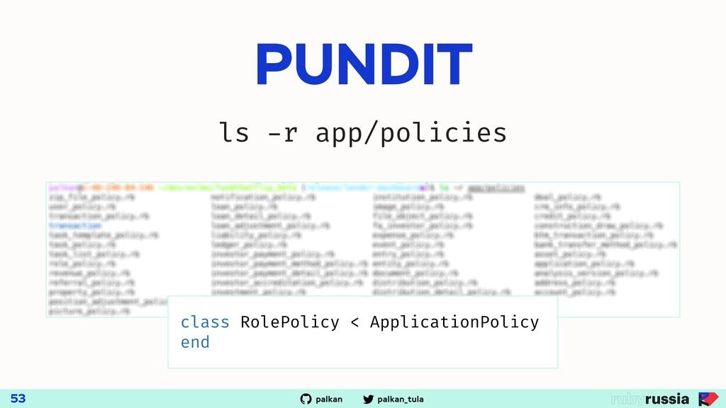 palkan_tula palkan PUNDIT 53 ls -r app/policies...
