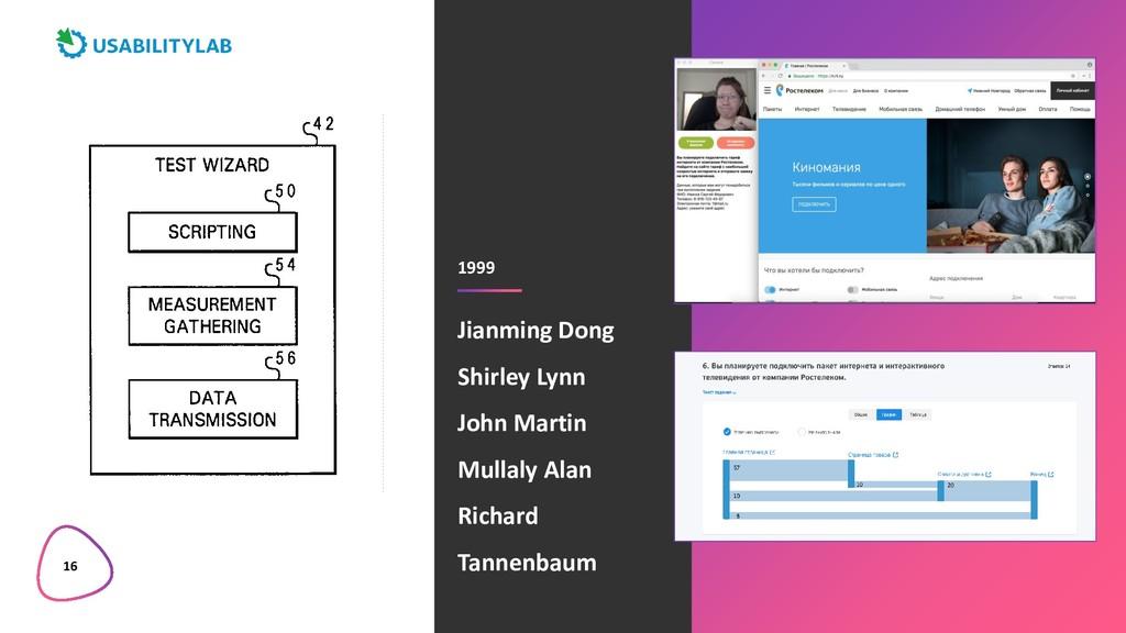 16 1999 Jianming Dong Shirley Lynn John Martin ...